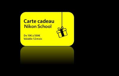 Carte cadeau Nikon School